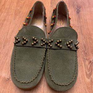 House of Harlow Shayla Beaded Moccasin Suede Sze 6